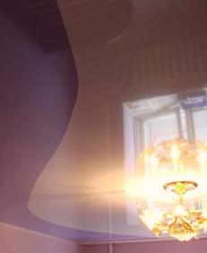 Очень красивый глянцевый потолок