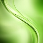 Abstract wave beautiful green background for design. Modern brig